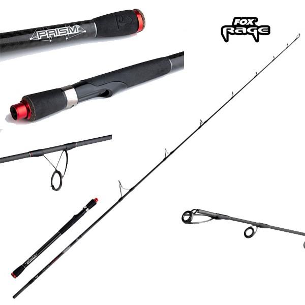 Spinnrute zum Jiggen auf Zander /& Barsche Angelrute zum Barschangeln Spinnangel Jigrute Fox Rage Warrior 2 Spin 270cm 10-30g